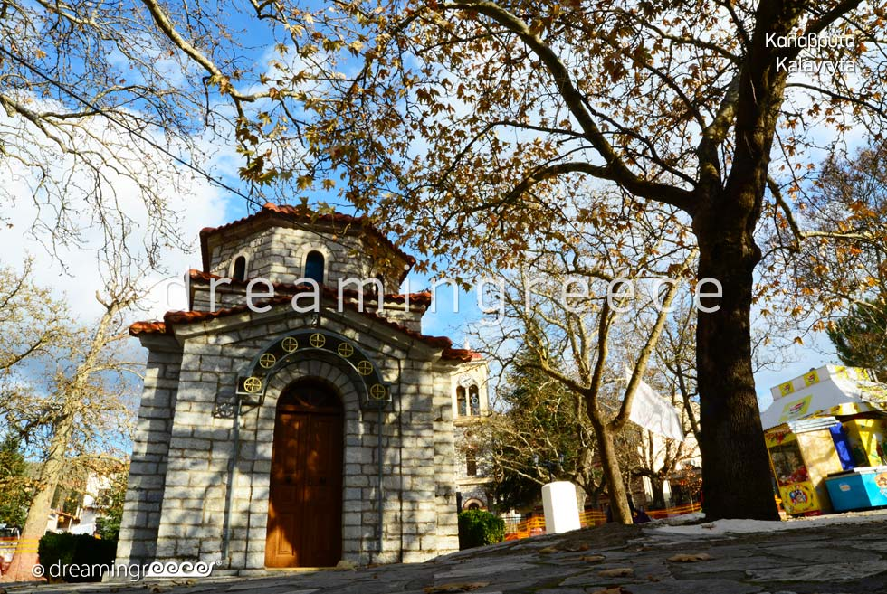 Kalavryta Achaia Peloponnese Winter holidays in Greece