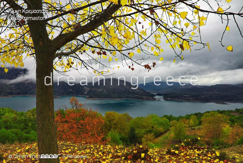 Lake Kremaston Karpenisi. Tourist Guide of Greece.