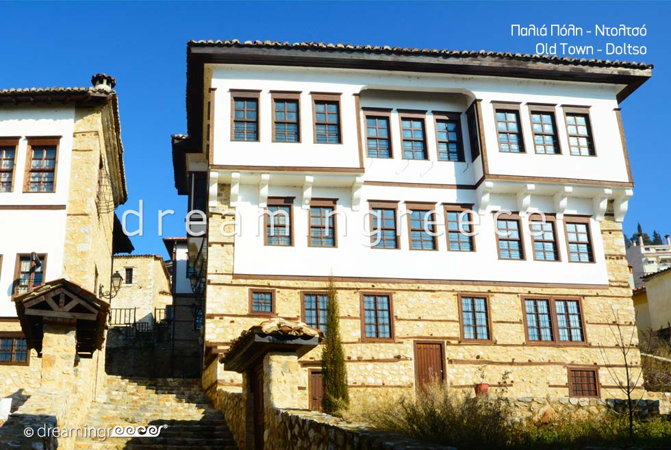 Old Town Doltso. Travel Guide of Kastoria Greece