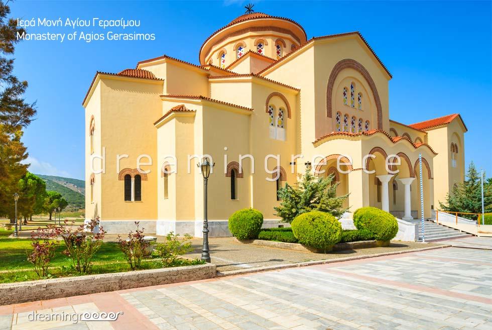 Monastery Agios Gerasimos Kefalonia island Greece