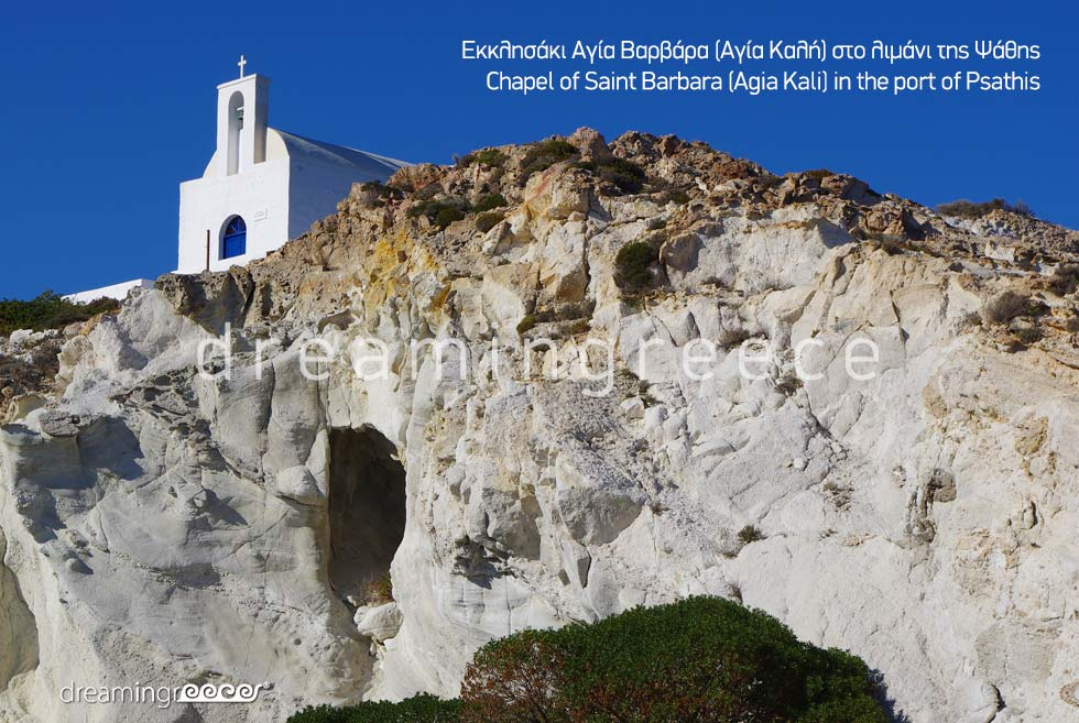 Chapel Saint Barbara. Visit Kimolos island Cyclades Greece