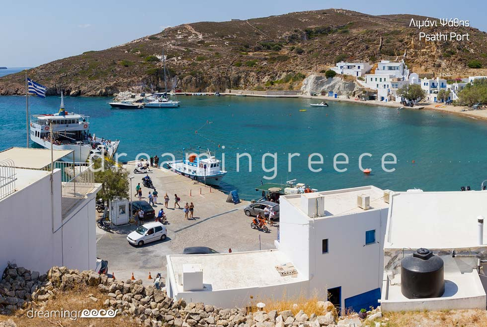 Psathi Harbor Kimolos island Cyclades. Holidays in Greece