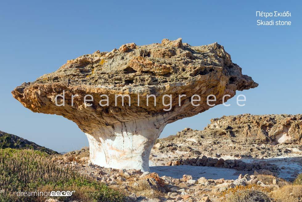 Skiadi stone Kimolos island Cyclades. Explore Greece