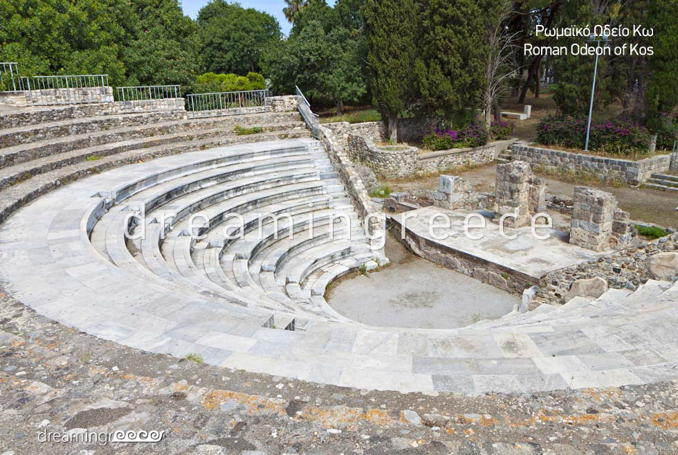 Roman Odeon Kos island Dodecanese Greece
