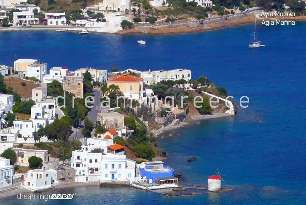 Travel Guide of Agia Marina Leros island Dodecanese Greece