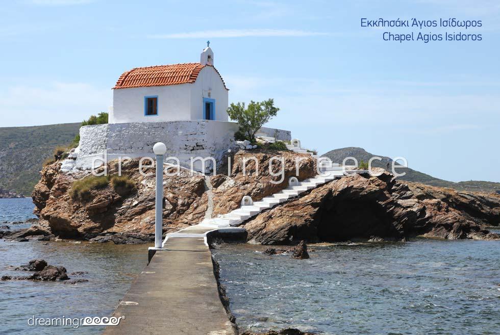 Explore Chapel Agios Isidoros Leros island Dodecanese Greece
