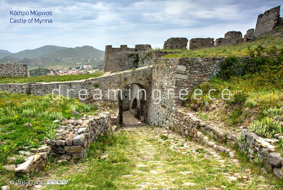 Castle of Myrina Lemnos island Northeastern Aegean Islands Greece