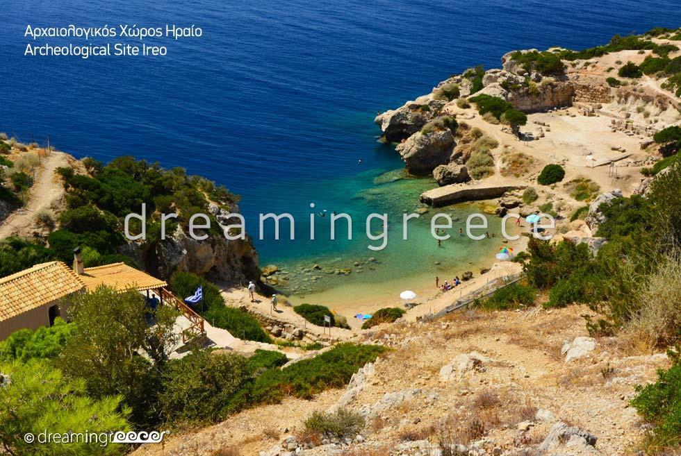 Archaeological site Ireo Loutraki Corinth Peloponnese Greece