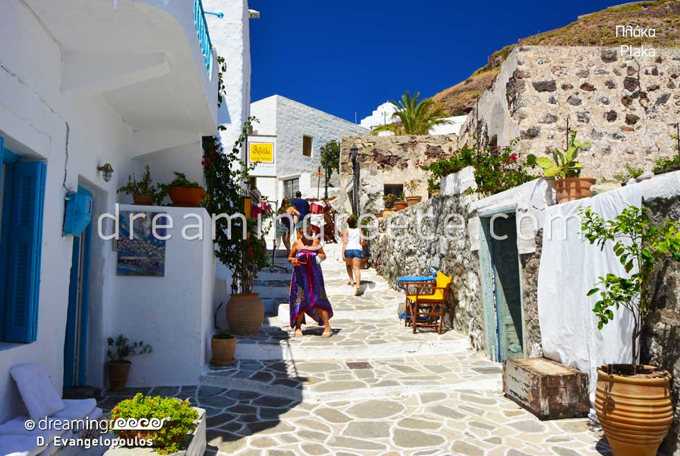 Plaka Village. Holidays in Milos island Greece. Greek islands.