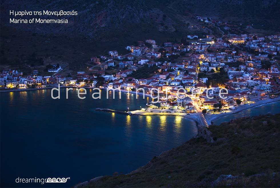 Marina Monemvasia Tourist Guide Laconia Peloponnese