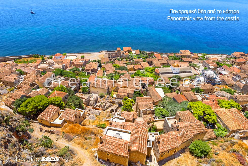 Holidays in Monemvasia Castle Laconia Peloponnese Greece