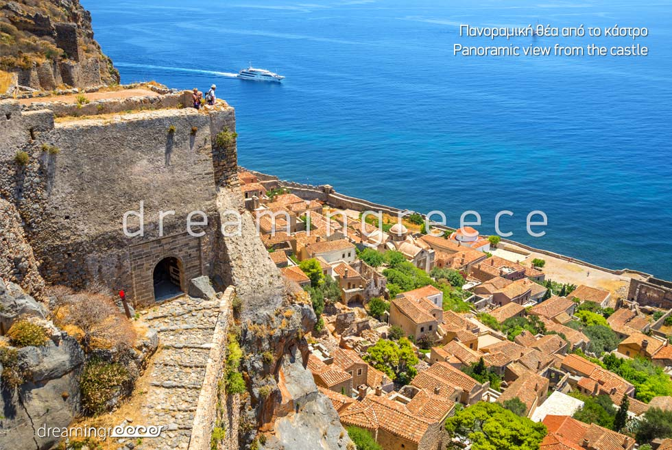 Castle Monemvasia Laconia Travel Guide Peloponnese
