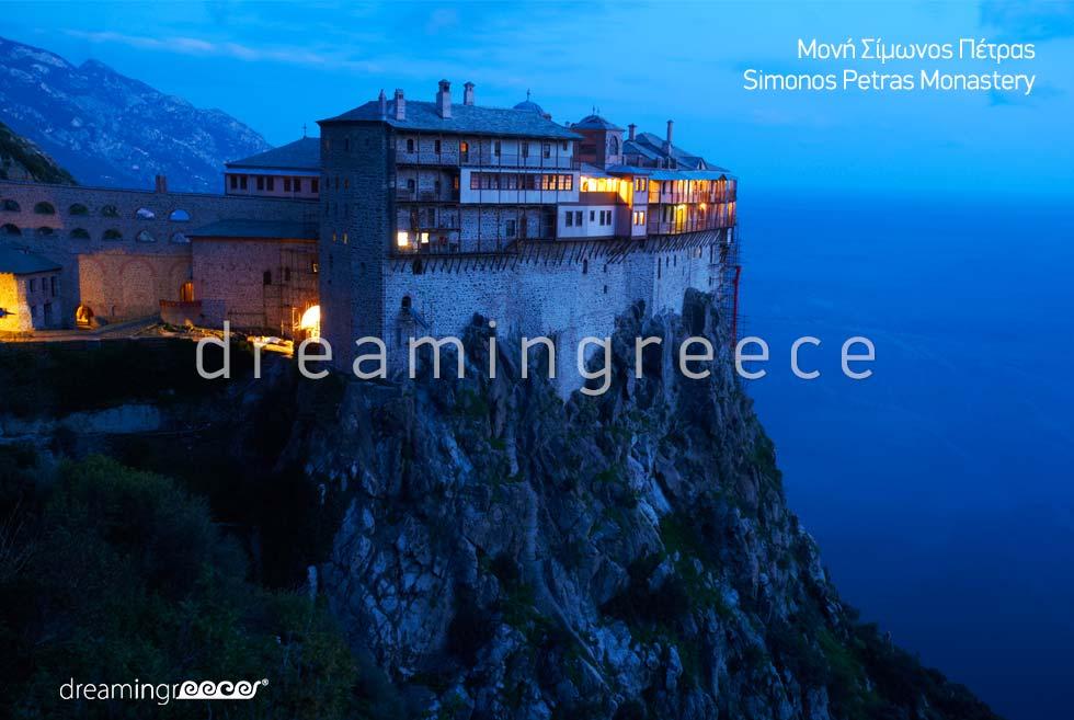 Mount Athos Simonos Petras Monastery Halkidiki Greece