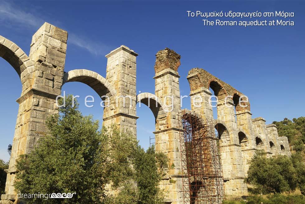 Romans Aqueduct Moria Lesvos Island Northeastern Aegean Islands Greece