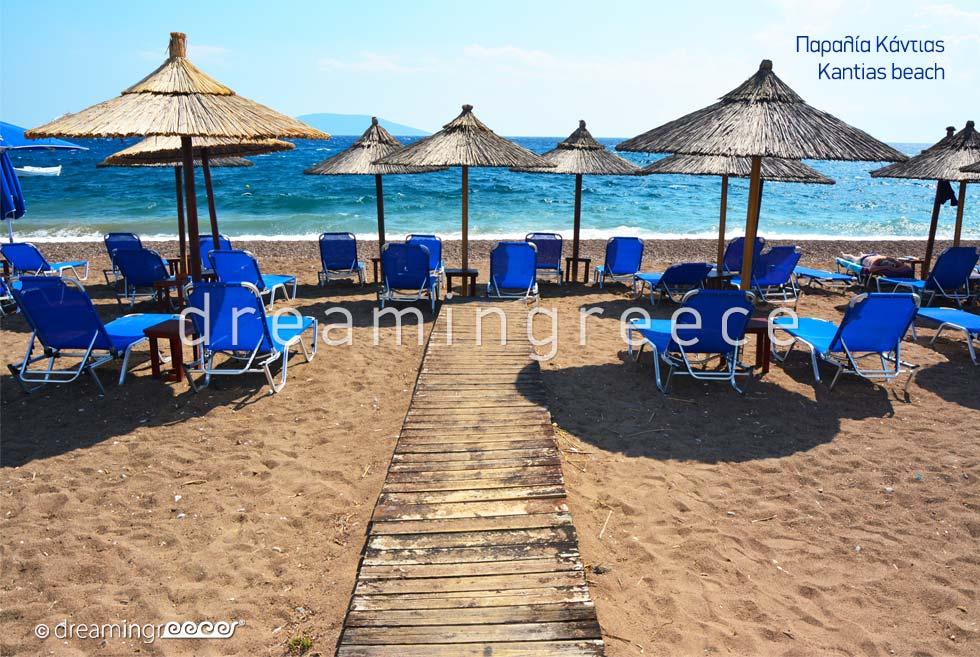 Kantias beach. Beaches in Nafplio Greece.