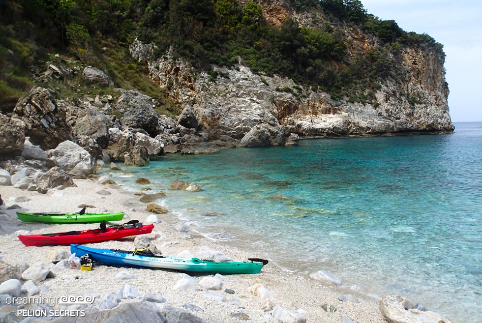 Sea Kayaking Pelion Secrets in Greece. Travel Guide of Pelion