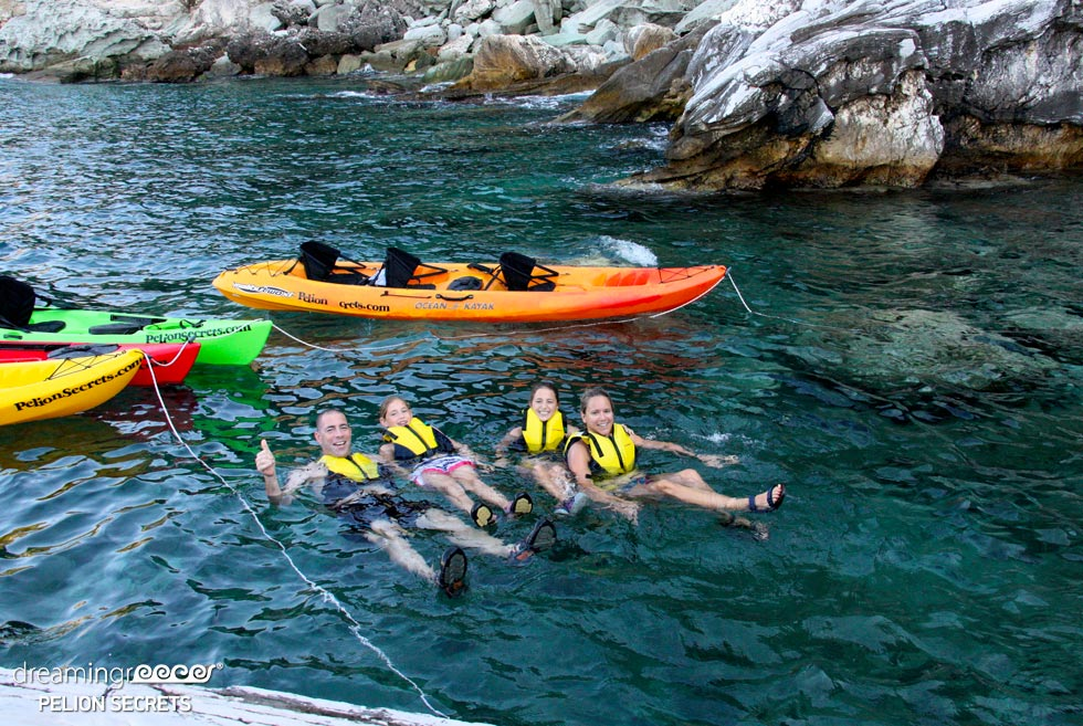 Sea Kayak Pelion Secrets. Sea Kayaking in Greece.