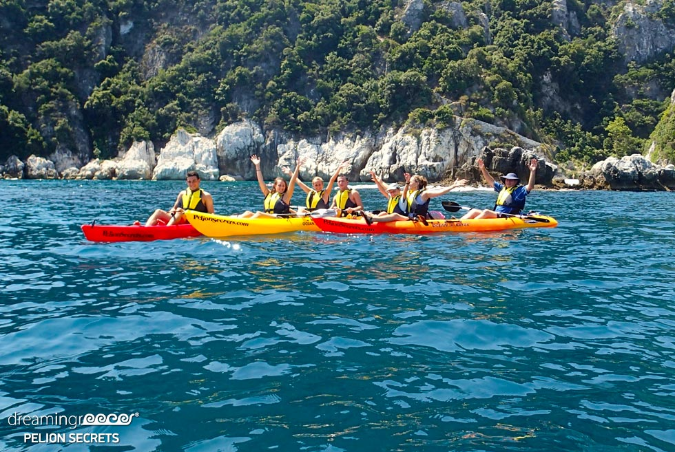 Sea Kayaking Pelion Secrets. Discover Greece. Sea Kayak