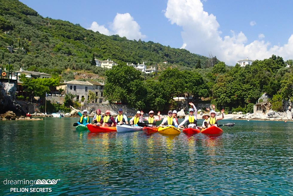 Sea Kayaking Pelion Secrets. Dream in Greece Travel Guide.