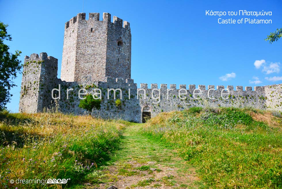 Archaeological sites in Greece. Platamon Castle Pieria Greece.