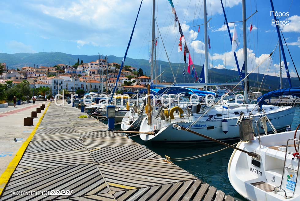 Poros island Greece Argosaronic islands