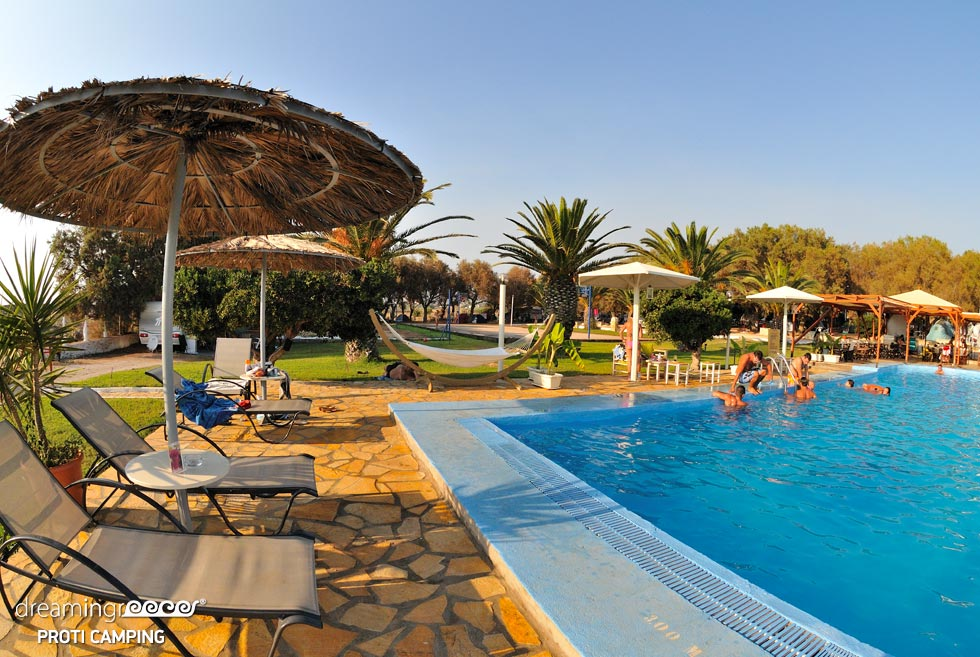 Camping Proti in Messinia Peloponnese. Camping in Greece.