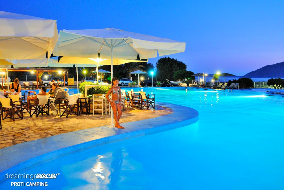 Camping Proti in Messinia Peloponnese. Camping in Greece. Holidays in Greece.