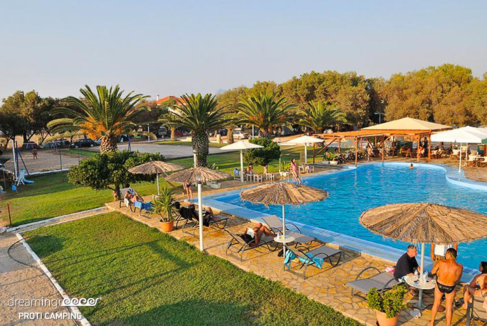 Camping Proti in Messinia. Peloponnese Travel Guide. Camping in Greece.