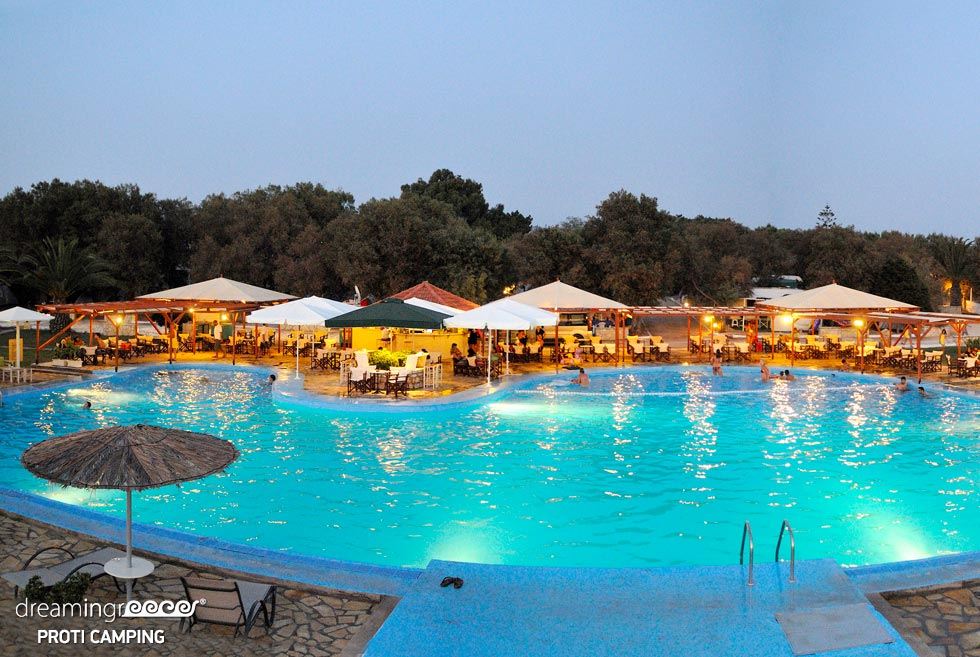 Camping Proti in Messinia Peloponnese. Camping in Greece. Vacations in Greece.
