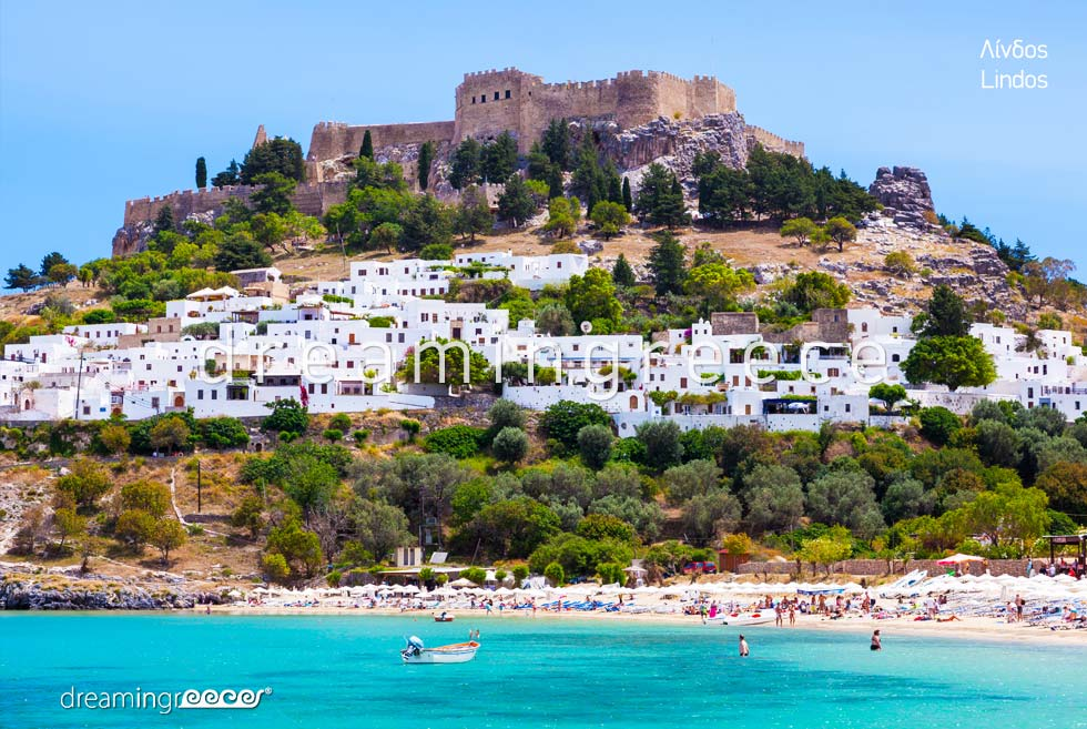 Visit Lindos Rhodes island Dodecanese. Holidays Greece