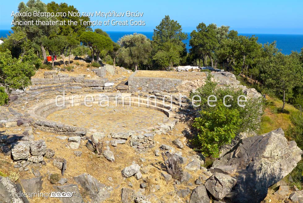 Discover Ancient Theater Temple Great Gods Samothrace island Northeastern Aegean Islands Greece