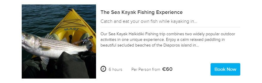 Fishing Experience tour Sea kayak Halkidiki