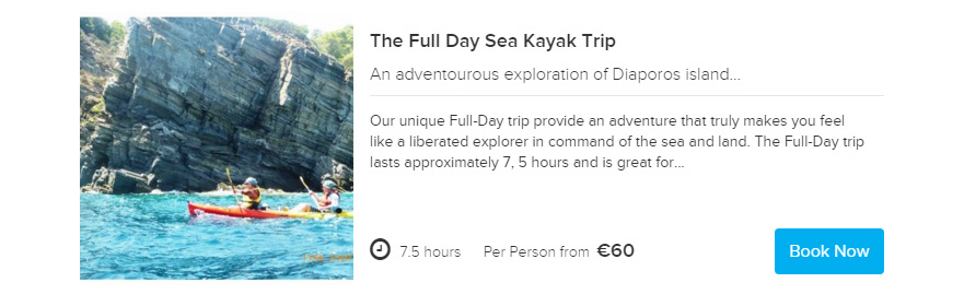 Sea Kayak Halkidiki Full day trip Booking online