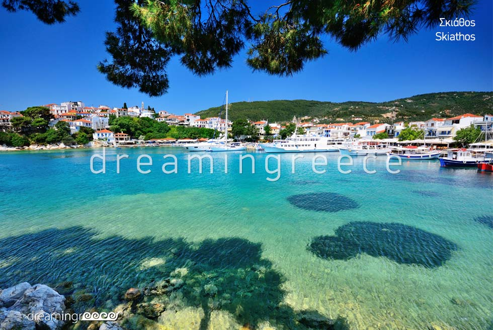 Explore the island of Skiathos Sporades Islands Greece