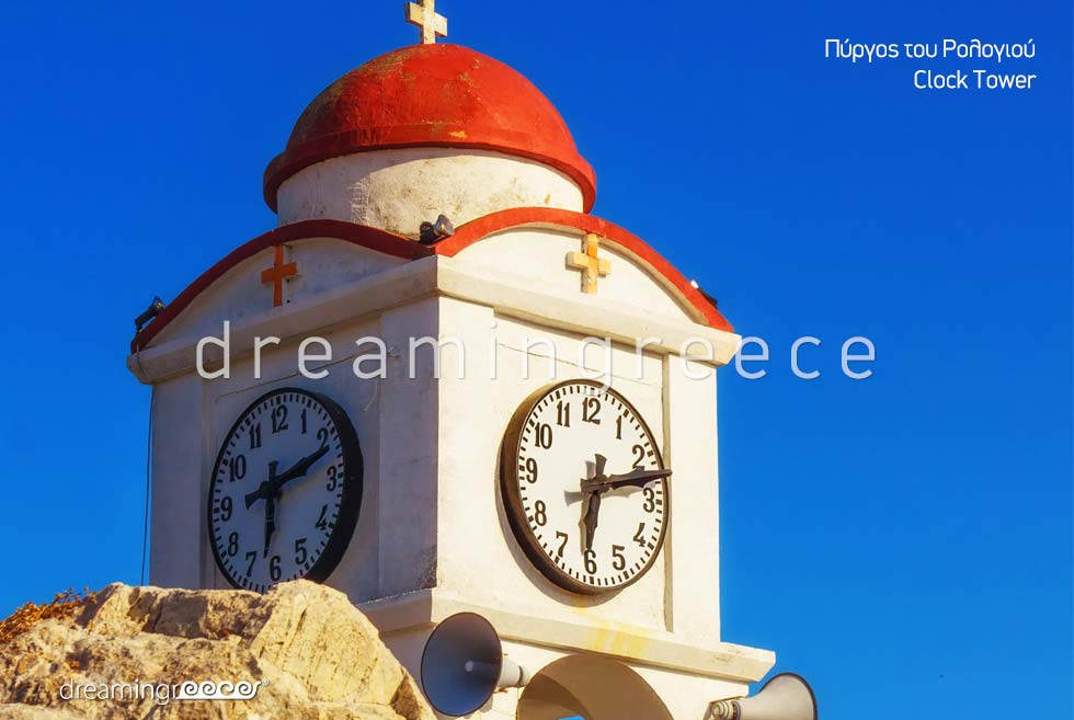 Clock Tower Skiathos island Sporades Islands Greece