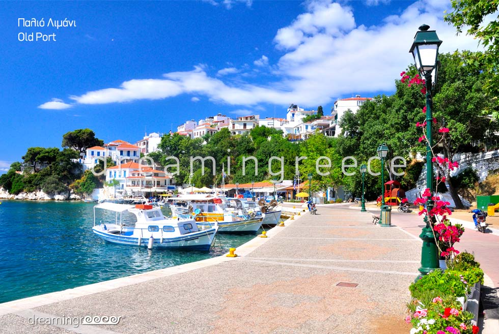 Holidays Old Port Skiathos island Sporades Islands Greece