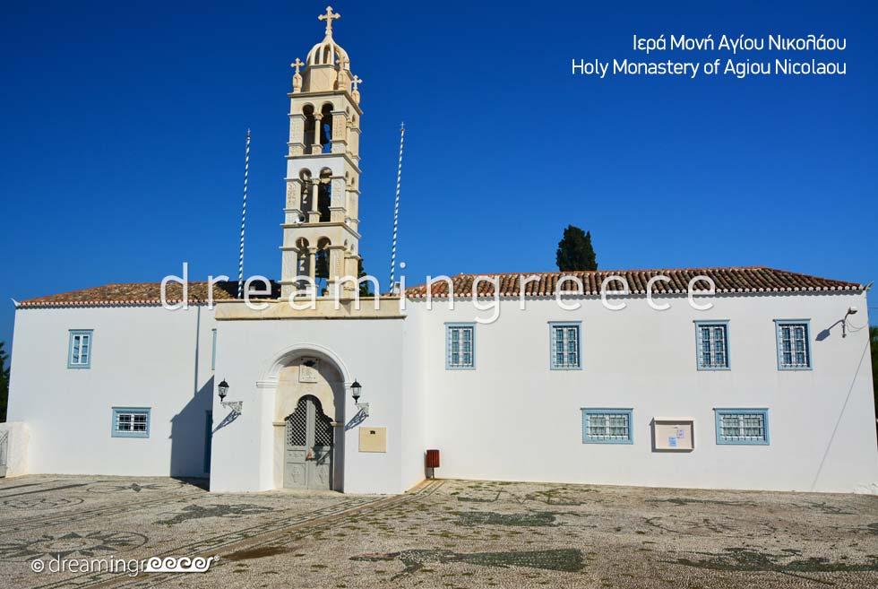 Spetses island Greece - Holy Monastery Agiou Nikolaou