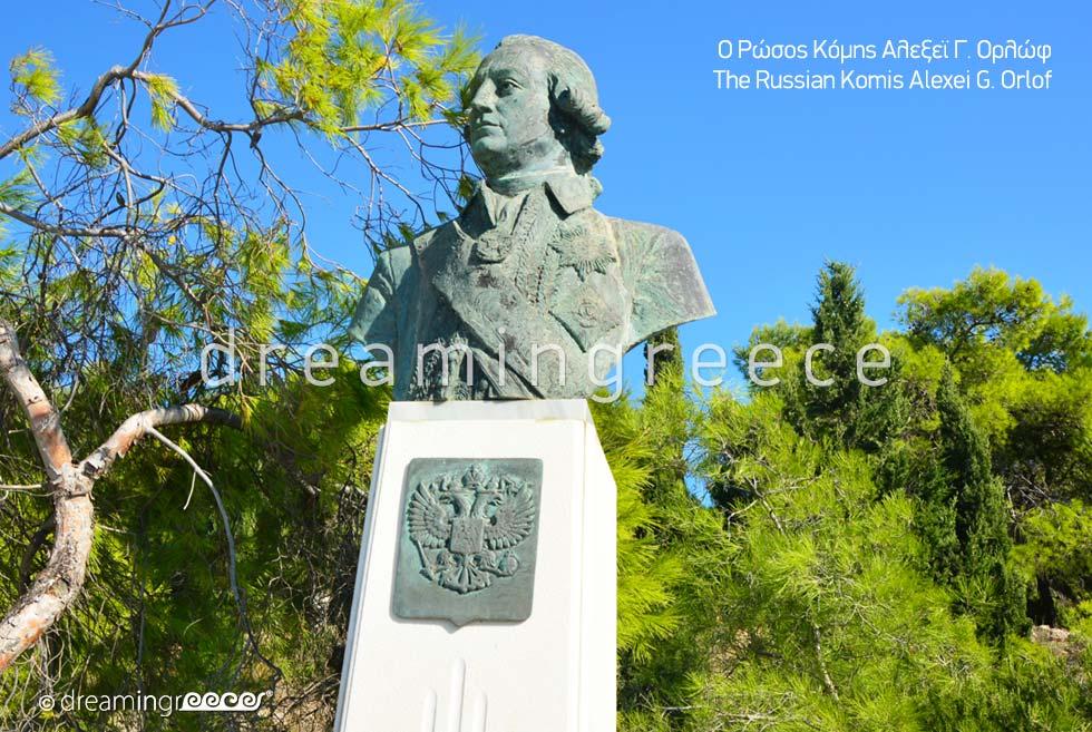 Spetses island Greece - Russian Komis Alexei Orlof