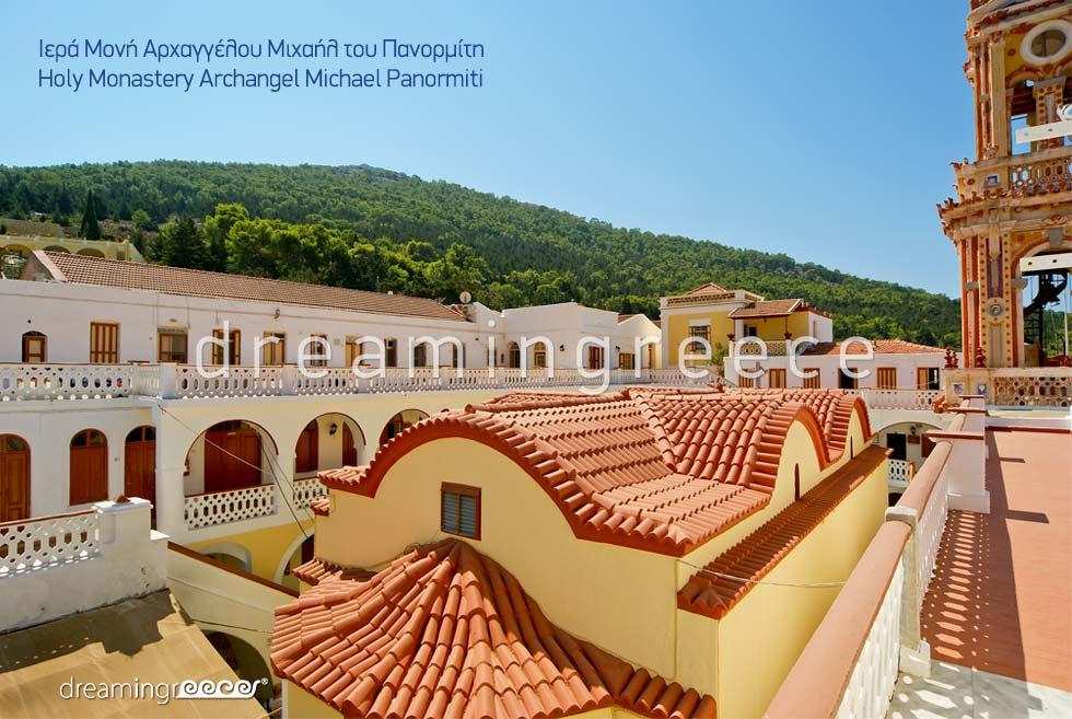 Monastery Archangel Michael Panormiti Symi Greece