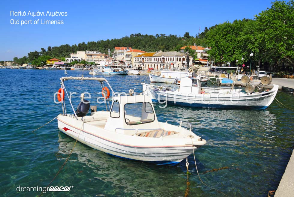 Travel Guide of Thassos. Old Port Limenas