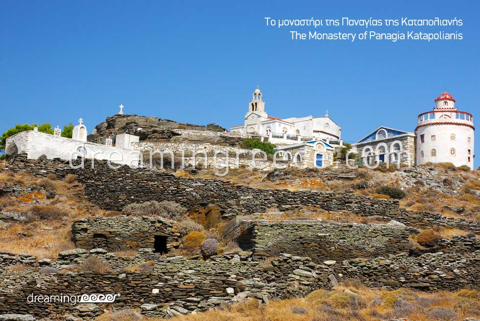 Monastery Panagia Katapolianis Tinos. Vacations in Greece