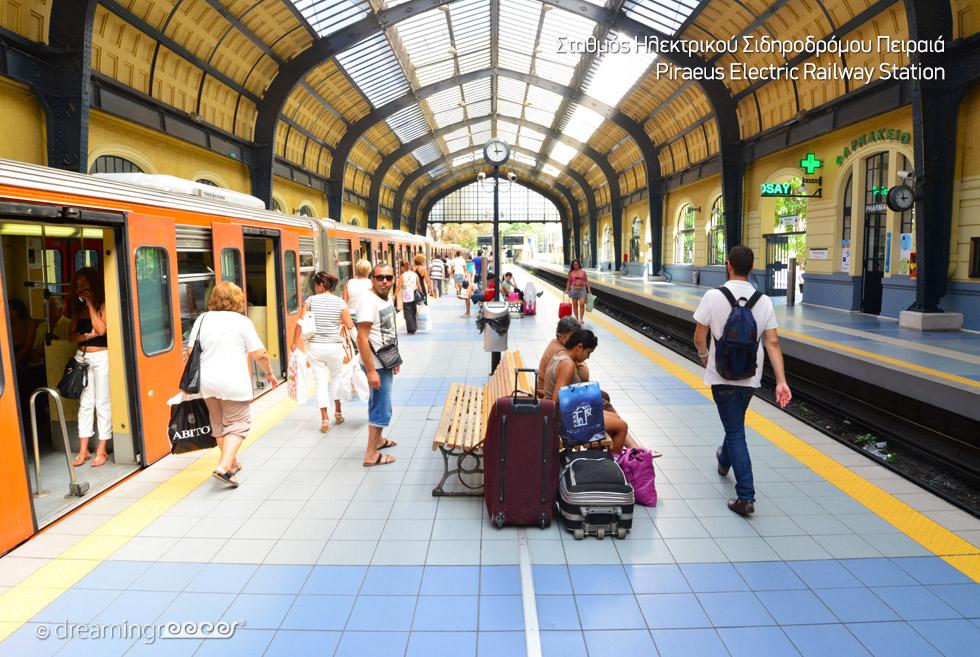 Piraeus railway station Athens Greece