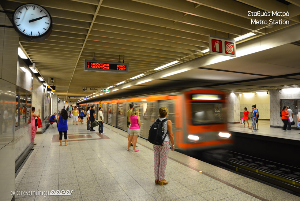 Metro station in Athens Greece