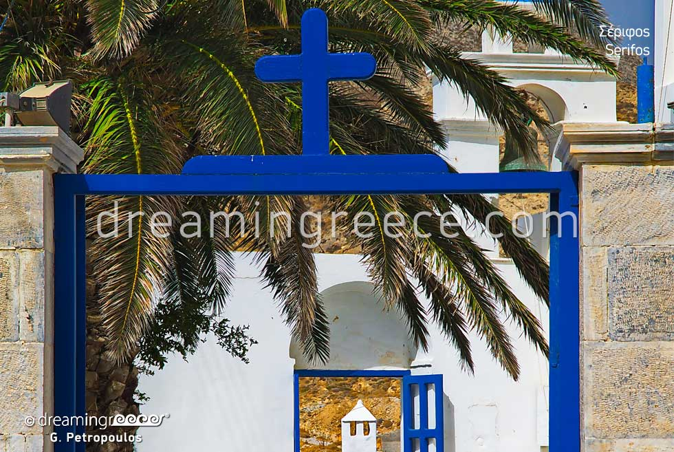 Church Entrance Serifos island. Visit Greece