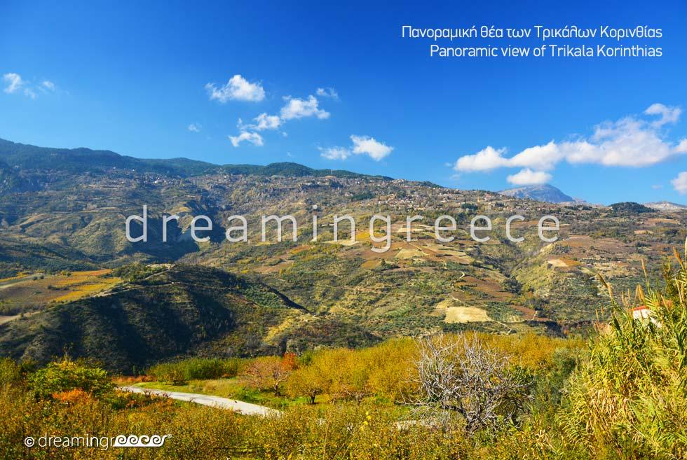 Travel Guide of Trikala of Corinth Peloponnese Greece