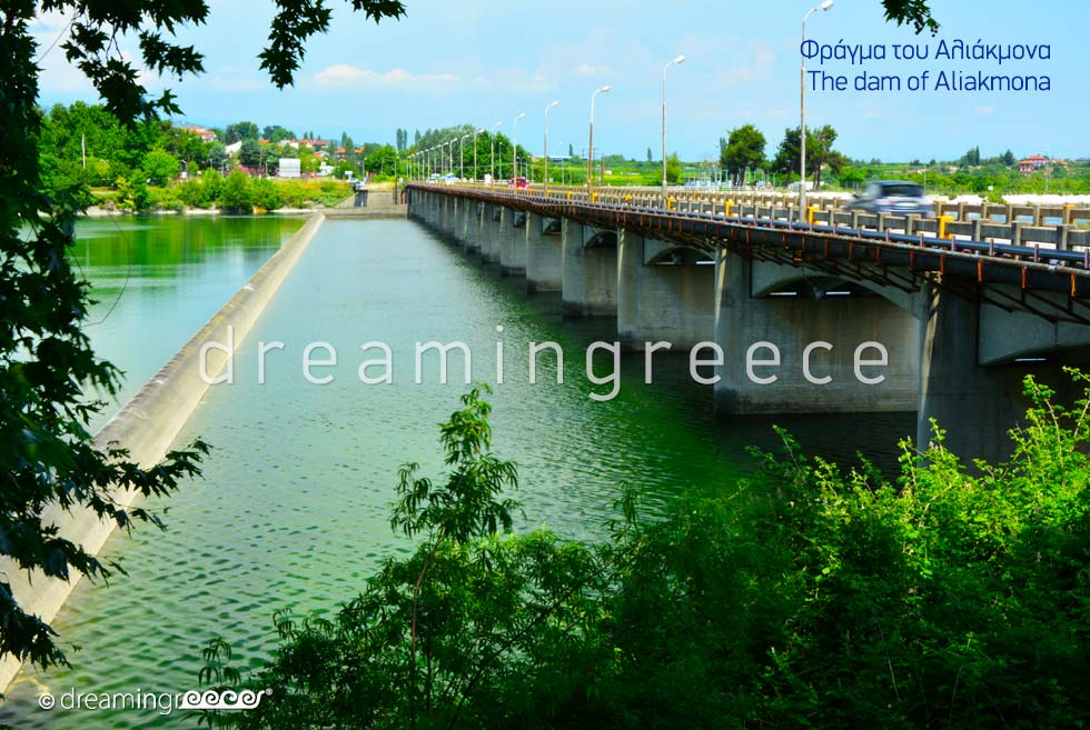 Aliakmona Dam in Veria Greece. Bridges in Greece.