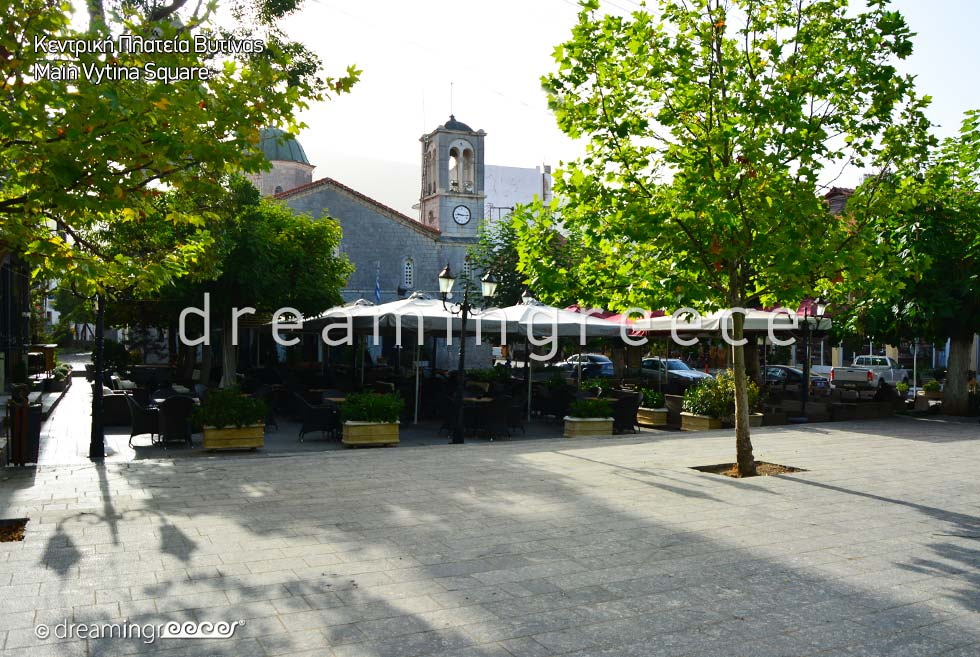 Vytina Square Arcadia Peloponnese Greece