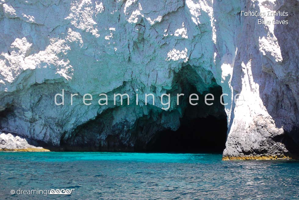 Discover Zakynthos Zante island Greece Blue Caves. Holidays Greek islands.