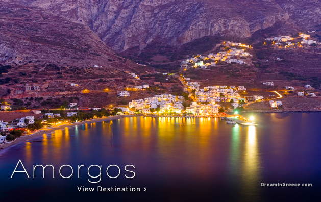 Greek islands Greece. Amorgos island Greece.