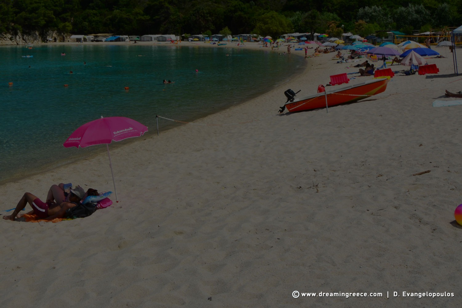 Halkidiki beaches Armenistis beach Sithonia Greece